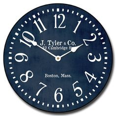 Hey, I found this really awesome Etsy listing at https://www.etsy.com/listing/514988264/navy-blue-wall-clock