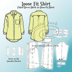 Loose shirts are so on-trend! Simple Shirts, Loose Shirts, Pdf Sewing Patterns, Clothing Patterns, Diy Clothing, Sewing Ideas, Pattern Cutting, Pattern Making, Shirt Patterns For Women