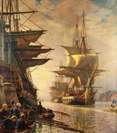 Riding in The Lap of Luxury Travel With a Virgin Island Yacht Charters Bateau Pirate, Old Sailing Ships, Pirate Art, Ship Drawing, Ship Paintings, Wooden Ship, Nautical Art, Ship Art, Model Ships