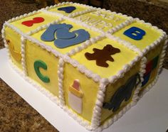 Baby shower cubes cake