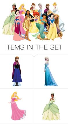 """Disney Princesses"" by lolgirl07 ❤ liked on Polyvore featuring art"