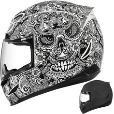 2015 Icon Airmada Chantilly Motorcycle Street DOT Protection Adult Helmet