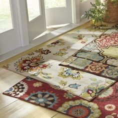 Designed for use indoors or out, this rug is made of fade-, mold- and mildew-resistant fibers; Rug pad recommended for indoor use sold separately. Mold And Mildew, Indoor Outdoor Rugs, Home Accents, Area Rugs, Montgomery Ward, Design, Home Decor, Rugs, Decoration Home