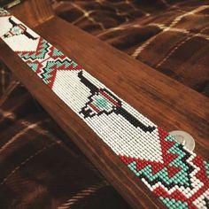 Loom Bracelet Patterns, Seed Bead Patterns, Beaded Jewelry Patterns, Beading Patterns, Bead Loom Bracelets, Bead Loom Designs, Beadwork Designs, Beaded Hat Bands, Beaded Belts
