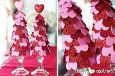 Valentine Heart Trees Fun Valentine Craft Ideas