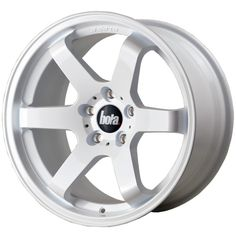 BOLA B1 6-SPOKE CONCAVE STAGGERED alloy wheels with stunning look in JAP STYLE for 5 stud alloy wheel fitment. 9.5J BOLA B1 alloy wheels in GLOSS WHITE finish are great match for most of jap imports and euro looking cars with 18 inch wheel size and 35 45 offset.