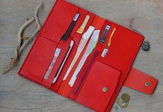 Leather Wallet Clutch Leather Wallet Women Wallet Women