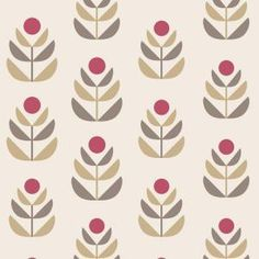 Beacon House, 56 sq. ft. Oslo Red Geometric Tulip Wallpaper, 2535-20620 at The Home Depot - Mobile