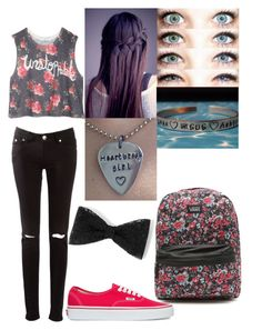 """""""school outfit #3 (what grade are you in?) I'll be in 8th"""" by notweridlimitededition ❤ liked on Polyvore featuring dELiA*s, Vans and KEEP ME"""