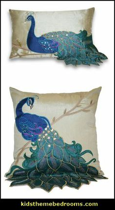 Peacock Accent Pillows