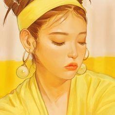 Kai Fine Art is an art website, shows painting and illustration works all over the world. Kpop Drawings, Art Drawings, Girl Cartoon, Cartoon Art, Amazing Drawings, Kpop Fanart, Korean Artist, Art Sketchbook, Aesthetic Art