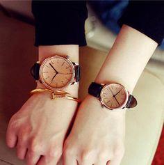 Rose Gold Couple Watch   Partnerlook Pullover & T-shirts, Uhren   SANATIME Shop