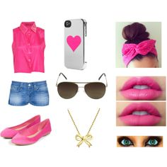 """PINK ♥"" by sofy-styles on Polyvore"