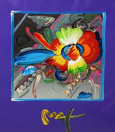 """PETER MAX """"FLOWERS"""""""