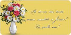 Felicitari de la multi ani cu buchete de flori - Iti doresc din toata inima sanatate si fericire! La multi ani!