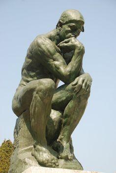 Rodin's The Thinker http://en.wikipedia.org/wiki/The_Thinker (Thx Debbie)