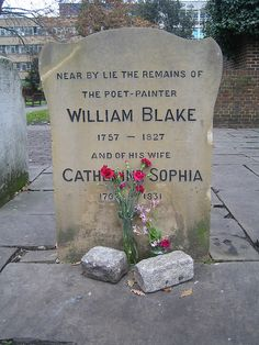 Grave, with flowers covering Catherine.