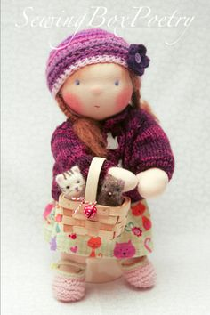 Waldorf doll Waldorf inspired doll Poetry by SewingBoxPoetry