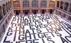 Raf Simons at the Lycée Buffon (scroll down for more info)  Raf Simons  Spread out across the courtyard of the Lycée Buffon, below the show held in the cloistered second floor, Raf Simons used a quotation by Leonard Cohen – 'there is a crack in everything, that's how the light gets in' – taken from his 1992 album 'The Future'.