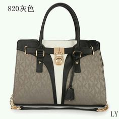 6749a3290 Whaaaaaaat i never saw this beauty before! Perfect Michael Kors Logo  Signature Medium Grey Totes, Perfect You