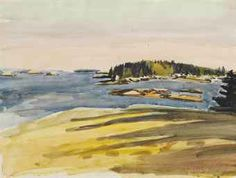View Bear Island-Sunset by Fairfield Porter on artnet. Browse upcoming and past auction lots by Fairfield Porter. Watercolor Landscape, Landscape Art, Landscape Paintings, Landscapes, Fairfield Porter, Bear Island, Paintings I Love, Acrylic Paintings, Oil Paintings