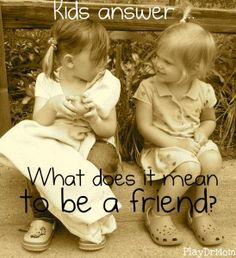 What does it mean to be a friend? #readforgood