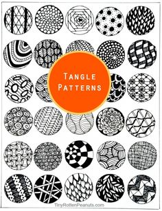 Zentangle patterns and printable tangle starter pages