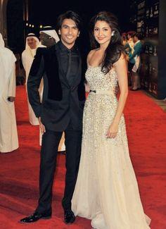 Ranveer Singh and Anushka Sharma at the premiere of Ladies vs. Ricky Bahl. #Bollywood