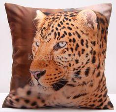 Gepard dekoracyjna brązowa poszewka