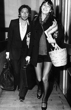 cool chic style fashion: Jane Birkin + Birkin bag Hermès + Icon + basket style