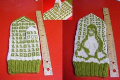 Linux Geek Mittens by Gayla Oglesby