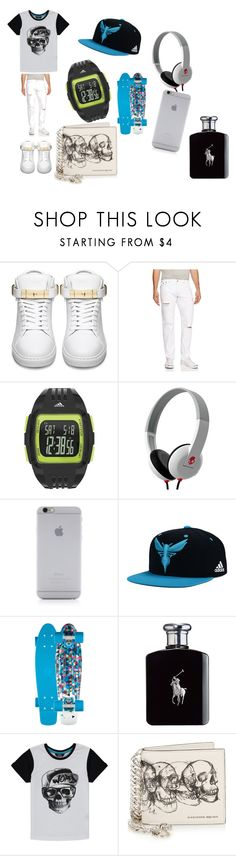 """006"" by direction24-i on Polyvore featuring BUSCEMI, True Religion, adidas, Skullcandy, Native Union, Ralph Lauren, George, Alexander McQueen, mens and men"