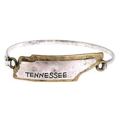Tennessee State Map Hook Bracelet Fashion Jewelry Wholesale