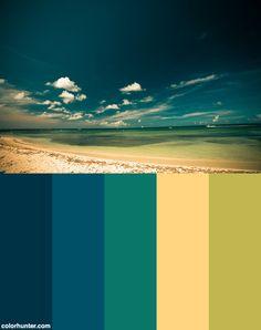 2006+Nov+-+Aruba+Color+Scheme Mood Colors, Colours, Color Combinations, Color Schemes, Color Palette Challenge, Color Meanings, Color Me Beautiful, Colour Palettes, Summer Colors