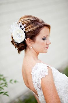 Bridal Hair Fascinator, Ivory Woodland Wedding Headpiece - MELIANA | yjdesign - Wedding on ArtFire