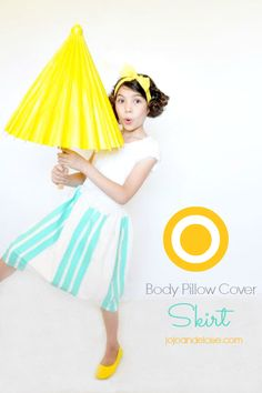 How to make a pillow case skirt tutorial by jojoandeloise.com