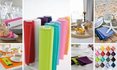 LOVE the versatility of the MyDrap linens! I can use them as a runner, place-mats and/or napkins.