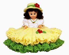 """7287 Crochet Pattern 13"""" SHERRI Bed Doll"""