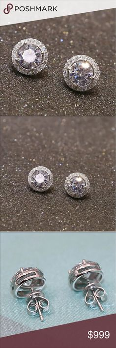 Restocking***** Luxury Women's Nice Crystal Zircon Inlaid Ear Stud Earrings! These are one of my top sellers! They are gorgeous! Jewelry Earrings