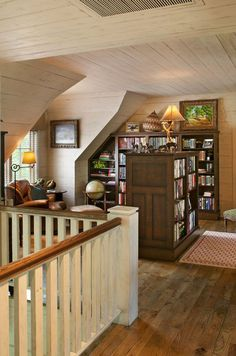 Home Library Design Ideas-20-1 Kindesign