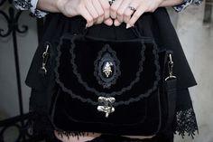 Black velvet bag (purse) - Villena Viscaria Accessories of Villena Viscaria Clothing