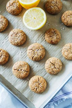 Soft and Chewy Lemon Coconut Cookies- made with fresh lemon zest and naturally sweetened with coconut sugar. You won't be able to eat just one! (vegan + gluten-free)