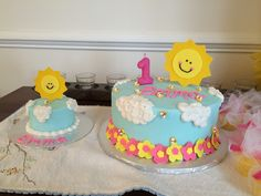 You Are My Sunshine Cake!   one mom & a mixer
