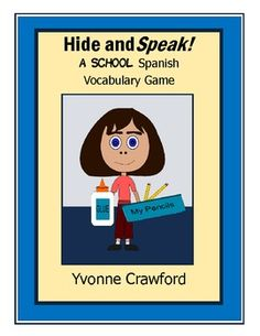 A School Spanish Vocabulary Game - Hide and Speak Game is a fun way for your students to review school vocabulary in Spanish while getting up and away from their desks.