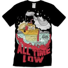 Junior Kickstart All Time Low shirt.(: ❤ liked on Polyvore