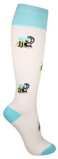 Tässä tukisukassa pörrää pirteä amppari piikin kanssa. Sukissa on kevyt tuki ja ne soveltuvat päivittäiseen käyttöön ehkäisemään jalkojen turvotusta. Socks, Fashion, Moda, Fashion Styles, Sock, Stockings, Fashion Illustrations, Ankle Socks, Hosiery