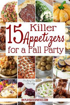 15 Killer Fall Appetizers for Crowd Looking to change up your party appetizer recipes this fall? Here are 15 delicious and easy party recipes to try for Thanksgiving, holiday parties, or even simple get-togethers. - Everything About Appetizers Make Ahead Appetizers, Appetizers For A Crowd, Christmas Appetizers, Food For A Crowd, Dinner Party Appetizers, Heavy Appetizers, Best Appetizer Recipes, Light Appetizers, Appetizers For Dinner Party