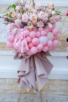 Birthday Balloon Decorations, Balloon Centerpieces, Birthday Balloons, Balloon Flowers, Balloon Bouquet, Diy Flowers, Lotus Flower Pictures, Happy Birthday Art, Balloon Gift