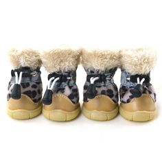HUBEE Pet Puppy Winter Leopard Shoes Small Dogs Soft Leather Anti-Slip Boots *** Quickly view this special cat product, click the image : Christmas Presents for Cats