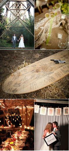"surfboard ""guestbook"" for beach wedding"